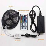 LED Ruban Bande, Jirvyuk Ruban LED Multicolores 5050 RGB SMD Flexible Lumineux Kit de Ruban à LED- 32.8ft (10M) 300 LEDs + Adapteur + Alimentation + Télécommande à Infrarouge 44 Touches de la marque Jirvyuk image 1 produit