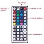 LED ruban Bande LED Lumineuse - Duractron Ruban à LED Etanche (5m) 5050 RGB SMD Multicolore 300 LEDs 60W, avec Télécommande à Infrarouge 44 Touches et Alimentation 5A 12V de la marque Duractron image 1 produit