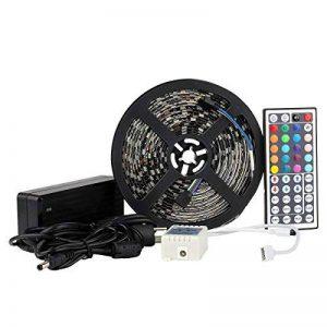 LED Strip EPBOWPT 5050 SMD RGB 5m 16.4 ft 300 Kit ruban lumineux bande Kit bande LED étanche IP65 en noir PCB avec télécommande 44 touches + UE Plug DC 12 V Alimentation de la marque EPBOWPT image 0 produit