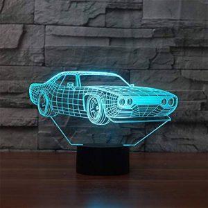LED Veilleuse 3D Lampe Illusion Optique Forme De Voiture 7 Couleurs Changement Tactile Interrupteur Lumière De Nuit Art Déco Faites Une Ambiance Romantique Dans La Chambre Chambre D'enfants Avec Câble USB de la marque YUN Night Light@ image 0 produit