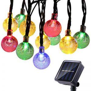 lederTEK Guirlande lumineuse solaire en forme de boule de cristal 6m de long 30 LEDs lampe solaire de 2 modes Lampe Noël décorative pour extérieure, jardin, maison, mariage, terrasse (Multi-couleur) de la marque lederTEK image 0 produit
