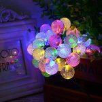 lederTEK Guirlande lumineuse solaire en forme de boule de cristal 6m de long 30 LEDs lampe solaire de 2 modes Lampe Noël décorative pour extérieure, jardin, maison, mariage, terrasse (Multi-couleur) de la marque lederTEK image 3 produit