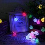 lederTEK Guirlande lumineuse solaire en forme de boule de cristal 6m de long 30 LEDs lampe solaire de 2 modes Lampe Noël décorative pour extérieure, jardin, maison, mariage, terrasse (Multi-couleur) de la marque lederTEK image 2 produit