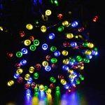 lederTEK Lumière Solaire (Lot de 2) 22m 200 LED Guirlande Lumineuse Extérieur pour la Décoration de Sapin de Noël, Jadin (Multicolore) de la marque lederTEK image 4 produit
