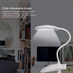 Ledgle 8W Lampe Clip Dimmable LED Lampe De Lecture Protection De Yeux, 3 Niveaux De Luminosité, Lampe De Table Rechargeable Et Flexible, Batterie Au Lithium 1200mah de la marque Ledgle image 4 produit