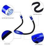 LEDGLE Lampe de Lecture Rechargeable Lampe de Nuit autour de Cou Mains Libres avec 3 Niveaux de Luminosité Réglable- Câble USB Inclus de la marque LEDGLE image 2 produit