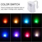 LEDGLE Lumière de nuit de toilette Lumières de toilette d'induction automatique, 8 couleurs, capteur activé par lumière, capteur infrarouge de la marque Ledgle image 2 produit