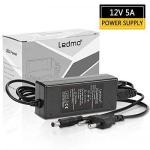 LEDMO Alimentation adaptateur, Transformateurs, Prise EU Alimentation Electrique pour ruban led, 12V DC 5A 60W Tension d'entrée 110-240V AC de la marque LEDMO image 0 produit