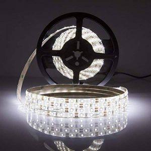LEDMO KIT Ruban LED Imperméable 12V Ruban à LED Etanche IP65 6000K Lumière Blanc Froid Bande Lumineuse LED Pack avec Bande LED 5M 2835-300LEDs et Transformateur 12V 5A Adaptateur EU de la marque LEDMO image 0 produit