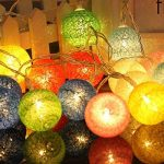 LEDMOMO 1.2M 10 LED lumières de fée de chaîne de boule de coton de LED pour la décoration de maison de partie de jardin (chaud blanc bleu) de la marque LEDMOMO image 2 produit