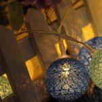LEDMOMO 1.2M 10 LED lumières de fée de chaîne de boule de coton de LED pour la décoration de maison de partie de jardin (chaud blanc bleu) de la marque LEDMOMO image 4 produit