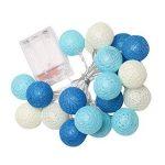 LEDMOMO 1.2M 10 LED lumières de fée de chaîne de boule de coton de LED pour la décoration de maison de partie de jardin (chaud blanc bleu) de la marque LEDMOMO image 3 produit