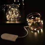 LEDMOMO 8 Unités Guirlande Lumineuse LED 6.6ft/2M Avec 20 micro LED par 2 x CR2032 (Compris) Blanc chaud de la marque LEDMOMO image 2 produit