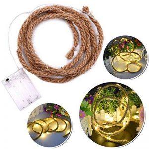 LEDMOMO LED Corde de chanvre Vintage fée guirlandes à piles pour Garden Party Lampe de lumière extérieure intérieure (blanc chaud) 2M de la marque LEDMOMO image 0 produit