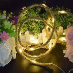 LEDMOMO LED Corde de chanvre Vintage fée guirlandes à piles pour Garden Party Lampe de lumière extérieure intérieure (blanc chaud) 2M de la marque LEDMOMO image 3 produit