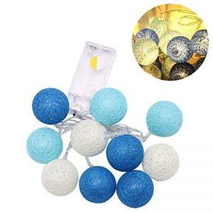 LEDMOMO Lumières de fée de ficelle de boule de coton de 2.3M 20 LED pour la décoration de maison de partie de jardin (bleu chaud blanc) … de la marque LEDMOMO image 0 produit