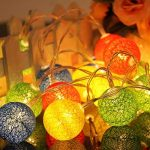 LEDMOMO Lumières de fée de ficelle de boule de coton de 2.3M 20 LED pour la décoration de maison de partie de jardin (bleu chaud blanc) … de la marque LEDMOMO image 4 produit