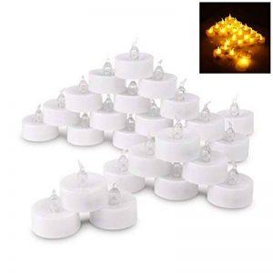 LEDMOMO Thé de LED sans flamme allumer des bougies, réalistes, piles, fausses bougies, Pack de 24(Warm White) de la marque LEDMOMO image 0 produit