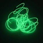 Lerway 5M multicolores Luminous EL Wire électroluminescence fil EL Neon Câble Lumière LED Glowing Éclairage Lampe flexible + Boîte de contrôleur, pour chambre à coucher de décoration Home Kitchen Garden, Café Restaurant, Party Bar Club vert clair de la m image 3 produit