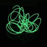 Lerway 5M multicolores Luminous EL Wire électroluminescence fil EL Neon Câble Lumière LED Glowing Éclairage Lampe flexible + Boîte de contrôleur, pour chambre à coucher de décoration Home Kitchen Garden, Café Restaurant, Party Bar Club vert clair de la m image 4 produit