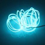 Lerway 5M EL Wire Fil Neon Flexible Lumiere, LED Cable Guirlande Lumineuses Electroluminescent Tube Lumineux,Parti de Noel, Fete, Decoration Voiture, Cuisine Exterieure,Boites de Nuit, Velo/Coche/Deco,Baton Lumineux- Bleu Clair de la marque Lerway image 1 produit