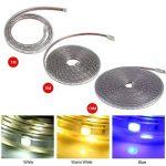 Les bandes de LED allume - bande imperméable de SMD 5050 LED, lumière flexible de corde de bande de 220V 60leds/m (Size : White:1M) de la marque Dewin image 1 produit