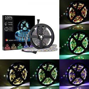 Les lumières de bande de 16,4ft LED 12V 5A RGBW ont mené les lumières de bande SMD5050 300Leds éclairage non-décoratif décoratif pour la partie de cuisine de pièce par Uhomely de la marque Uhomely image 0 produit