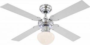 Les ventilateurs de plafond avec lumière ventilateur lampe inklusvie ampoules led globo champion 0330 de la marque Globo image 0 produit