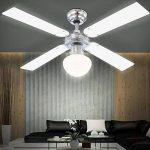 Les ventilateurs de plafond avec lumière ventilateur lampe inklusvie ampoules led globo champion 0330 de la marque Globo image 2 produit