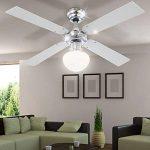 Les ventilateurs de plafond avec lumière ventilateur lampe inklusvie ampoules led globo champion 0330 de la marque Globo image 3 produit