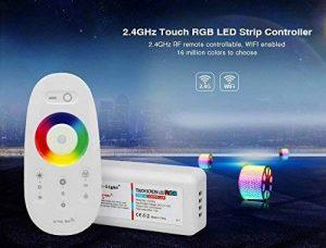 LIGHTEU, 1 x Télécommande sans fil simple et 1 x Contrôleur RF 2.4G pour bandes LED RGB de la marque LIGHTEU image 0 produit
