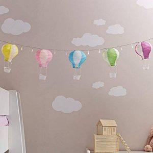 Lights4fun Assortiment DE 5 Lampions Montgolfière de Couleurs Pastelles en Papier de la marque Lights4fun image 0 produit
