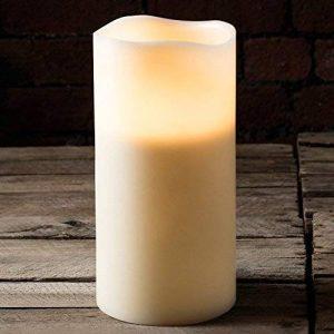 Lights4fun Bougie 3 Mèches en Cire Véritable avec Flammes LED à Piles, 30cm de la marque Lights4fun image 0 produit