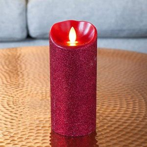 Lights4fun Bougie Mirage Rouge à Paillettes avec LED Illusion Vraie Flamme 18cm par Candle Impressions de la marque Lights4fun image 0 produit