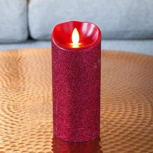 Lights4fun Bougie Mirage Rouge à Paillettes avec LED Illusion Vraie Flamme 18cm par Candle Impressions de la marque Lights4fun image 0 produit