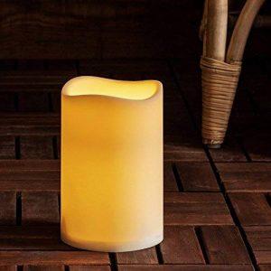 Lights4fun Grande Bougie Pilier LED d'Extérieur à Piles avec Programmateur, 17,5cm de la marque Lights4fun image 0 produit