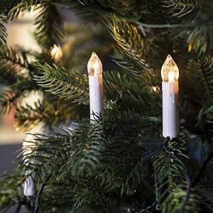 Lights4fun Guirlande Lumineuse de Noël 20 Bougies Blanches LED Blanc Chaud à Pince pour Sapin de la marque Lights4fun image 0 produit