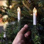 Lights4fun Guirlande Lumineuse de Noël 20 Bougies Blanches LED Blanc Chaud à Pince pour Sapin de la marque Lights4fun image 1 produit