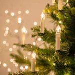 Lights4fun Guirlande Lumineuse de Noël 20 Bougies Blanches LED Blanc Chaud à Pince pour Sapin de la marque Lights4fun image 4 produit