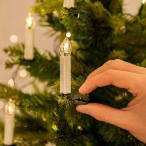 Lights4fun Guirlande Lumineuse de Noël avec 50 Bougies Crèmes LED Blanc Chaud à Pince pour Sapin de la marque Lights4fun image 0 produit