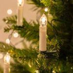 Lights4fun Guirlande Lumineuse de Noël avec 50 Bougies Crèmes LED Blanc Chaud à Pince pour Sapin de la marque Lights4fun image 1 produit