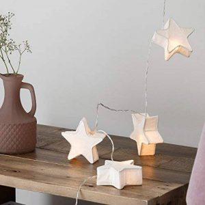 Lights4fun Guirlande Lumineuse LED 10 Lampions Etoiles en Papier à Piles de la marque Lights4fun image 0 produit