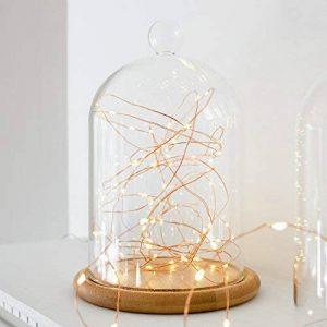 Lights4fun Guirlande Lumineuse à Piles avec 50 Micro LED Blanc Chaud sur Câble en Cuivre de la marque Lights4fun image 0 produit