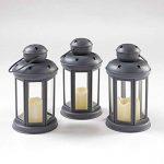 Lights4fun Lot DE 12 Lanternes Gris Anthracite avec Bougies LED à Piles pour Intérieur/Extérieur de la marque Lights4fun image 2 produit