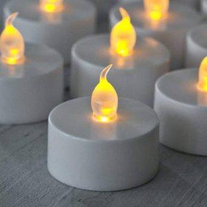 Lights4fun Lot de 60 Bougies Chauffe-Plat à Piles avec Flamme LED Vacillante en Caoutchouc de la marque Lights4fun image 0 produit