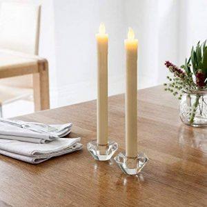 Lights4fun Lot DE 8 Bougies de Chandelier à Piles en Cire Blanche avec Flamme LED Blanc Chaud de la marque Lights4fun image 0 produit