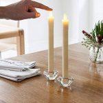 Lights4fun Lot DE 8 Bougies de Chandelier à Piles en Cire Blanche avec Flamme LED Blanc Chaud de la marque Lights4fun image 1 produit
