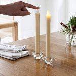 Lights4fun Lot DE 8 Bougies de Chandelier à Piles en Cire Blanche avec Flamme LED Blanc Chaud de la marque Lights4fun image 2 produit