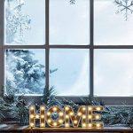 Lights4fun Mot Décoratif « Home » Lumineux LED en Bois à Piles de la marque Lights4fun image 1 produit