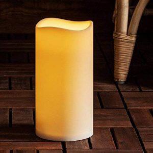 Lights4fun Très Grande Bougie Pilier LED d'Extérieur à Piles avec Programmateur, 22,5cm de la marque Lights4fun image 0 produit